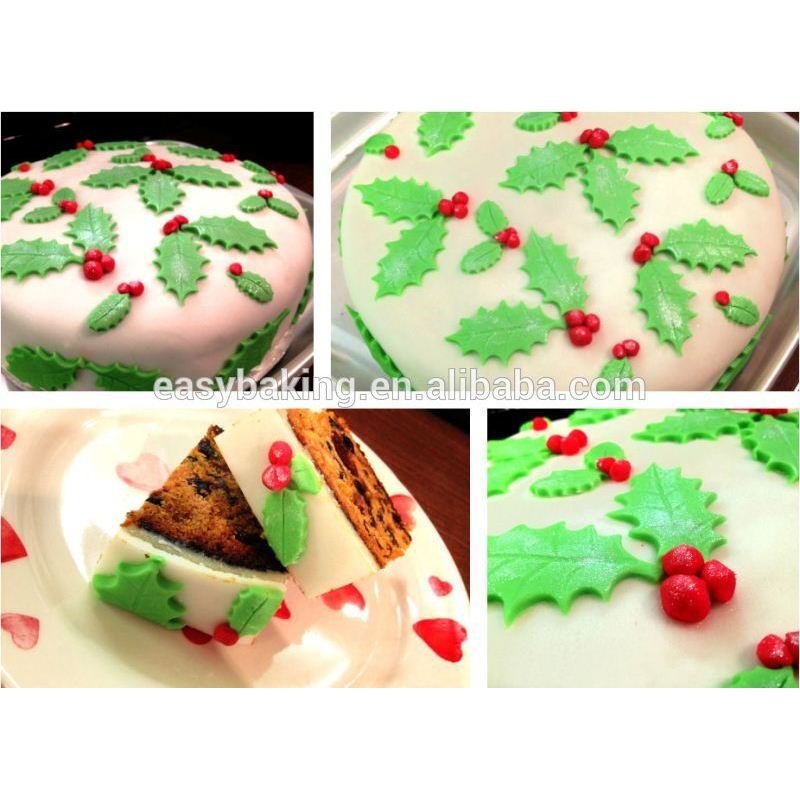 Cake Cookie Fondant Decorating Veined Holly Leaf Plunger Cutter