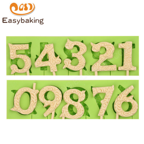 Number Fondant Silicone Molds for Cake Decorating mould
