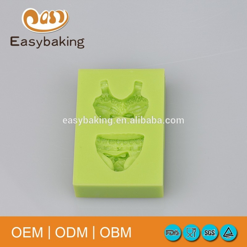 Sexy Lady Underwear Set Bra & Knickers Silicone Bakeware Fondant Molds For Cake Decorate
