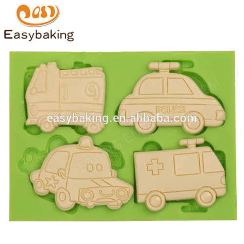 Custom multifunctional design cars shape fondant mould silicone molds