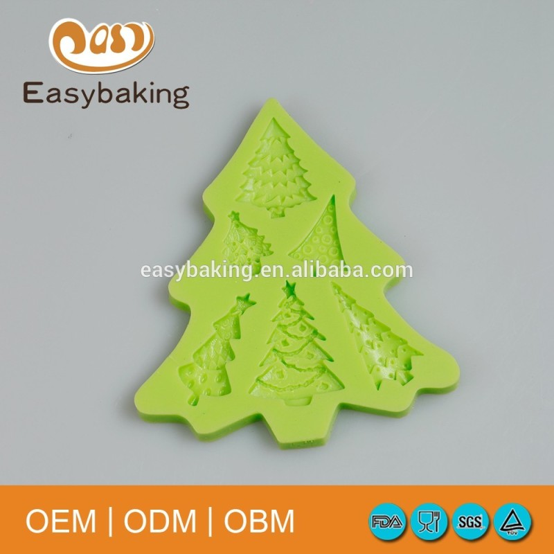 Christmas Tree silicone mold fondant cake decoration candy mold chocolate making tools craft jewelry mold