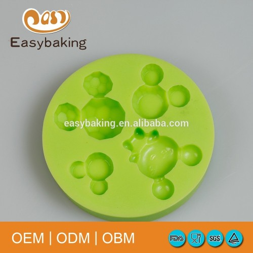 Minnie mouse shape mickey head silicone mould for candy