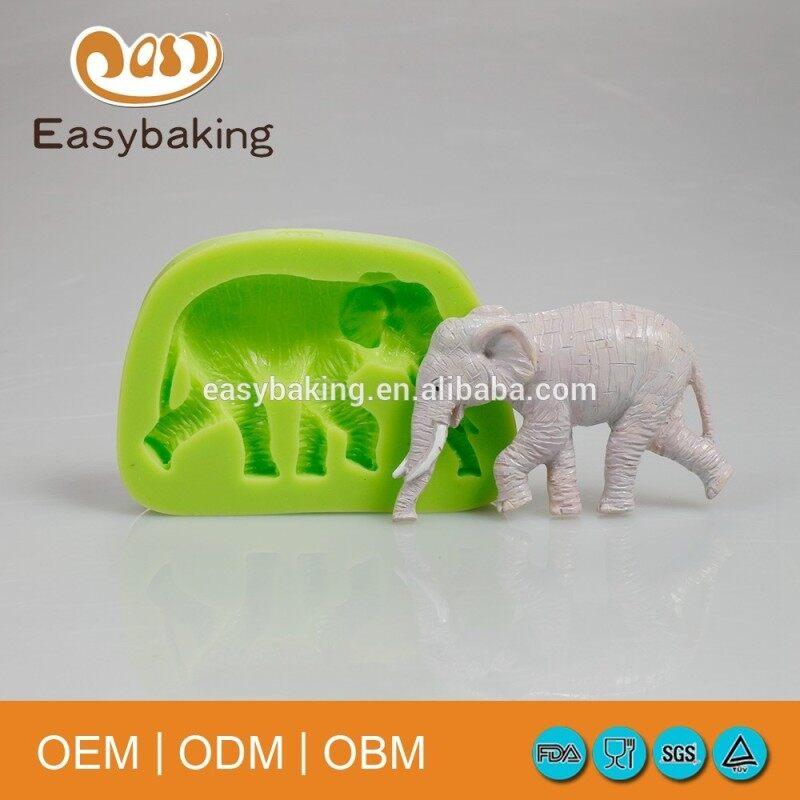 LUC food safety elephant shaped cake bakery silicone mold