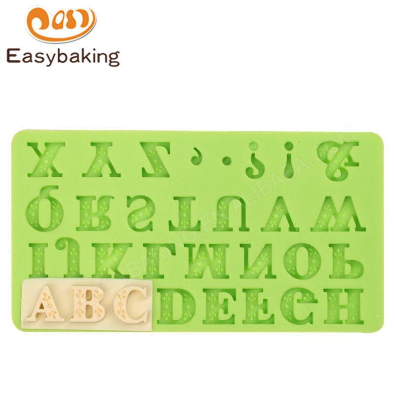 Letters shape silicone mold for Fondant cake decoration soft mode