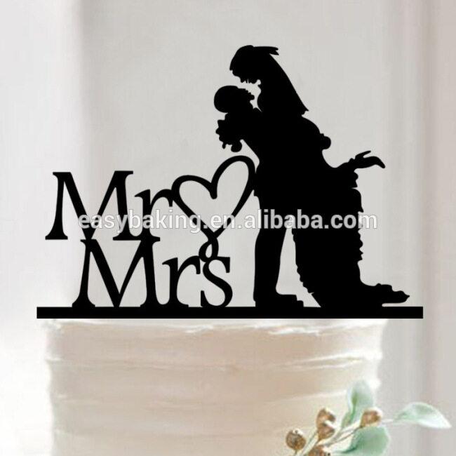 Wedding gifts multi-style sweet Acrylic Cake Topper for wedding cake decoration