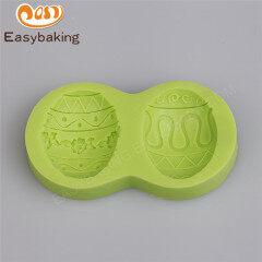 Wholesale custom festival 3D easter egg silicone soap molds,cake molds