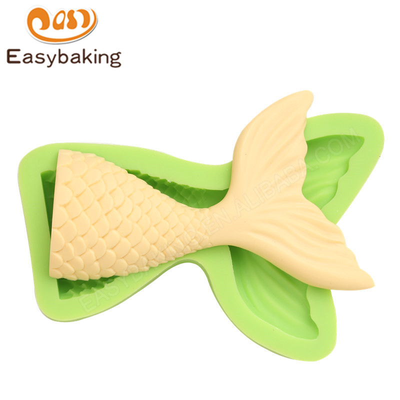 3d Fish Tail  shape silicone molds cake baking decorating tools
