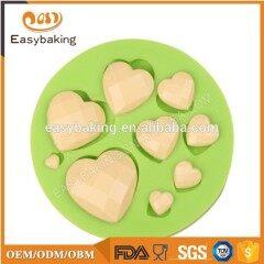 Heart Shaped Diamond Silicone Mold Fondant Cake Chocolate Decoration
