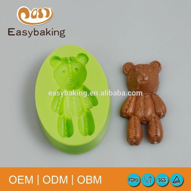 Animal bear cartoon silicone cake mold