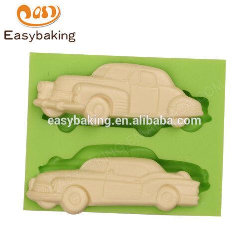 Custom different designs multi cars shape fondant silicone molds