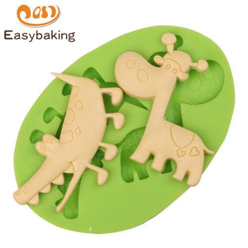 Crocodile Giraffe Silicone Fondant Cake Decorating Mould