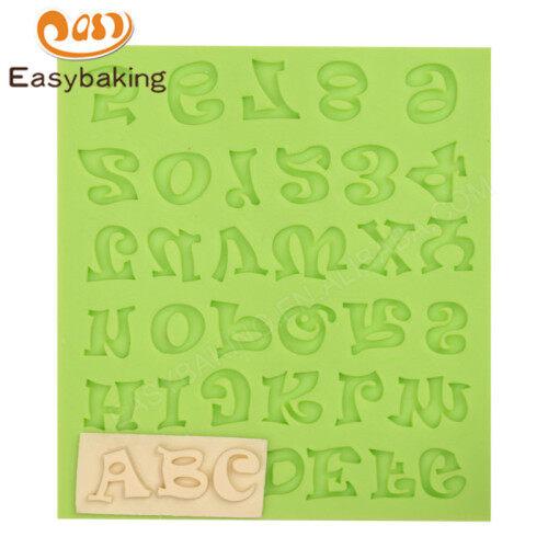 Alphabet Shape Silicone Fondant Cake Mold Cake Decorating Mould