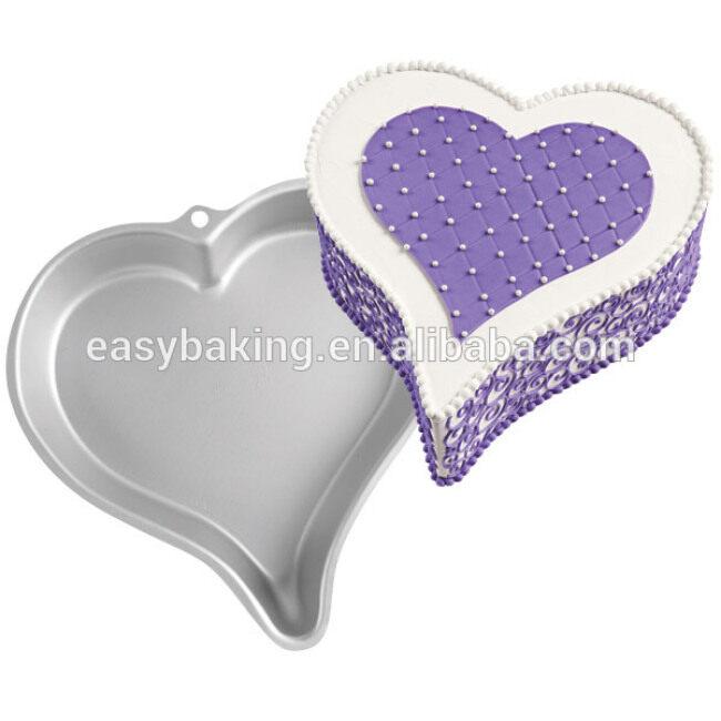 Non-stick DIY aluminum mold sweet heart cake baking pan