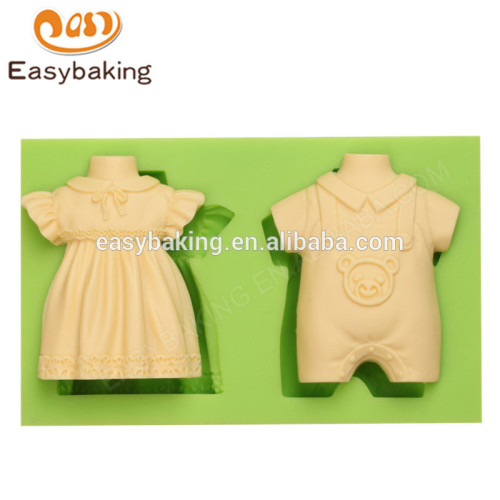 New arrival custom made boy and girl baby dress silicone molds