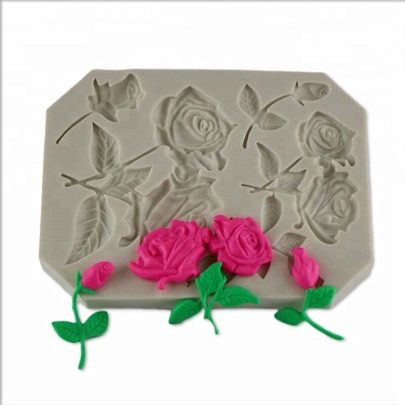 Cupcake Decorating Rose Stems Silicone Sugarcraft Mould