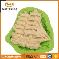 Family DIY Sailing Boat Shaped Silicone Ice Cake Molds
