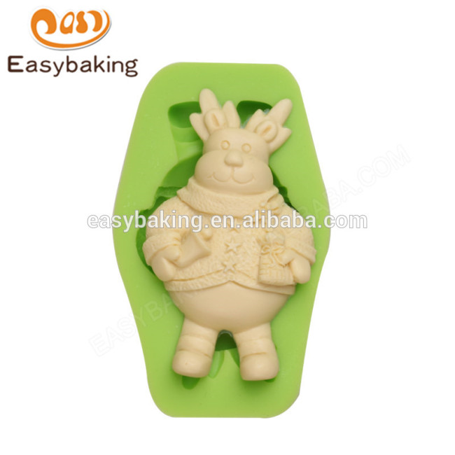 Wholesale factory supply high quality christmas silicone molds fondant