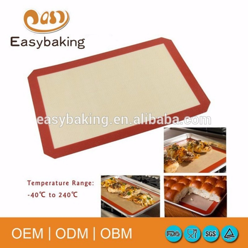 High quality durable non stick silicone baking mat for pastry baking