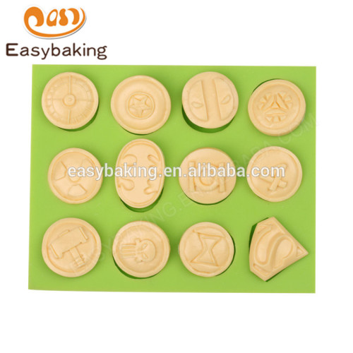 New design food grade heat resistant 12 cavity silicone molds