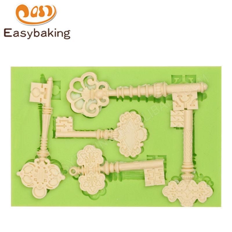 Silicone key fondant mold for cake decoration