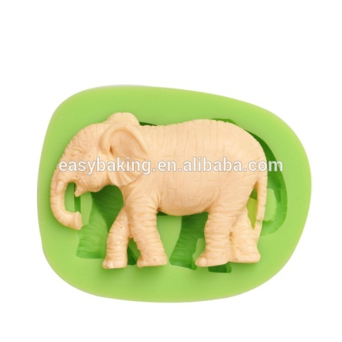 High quality silicone elephant mold for fondant cake or jelly