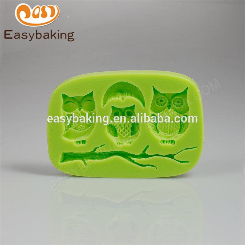 China wholesale promotion custom new animal night owls series silicone molds