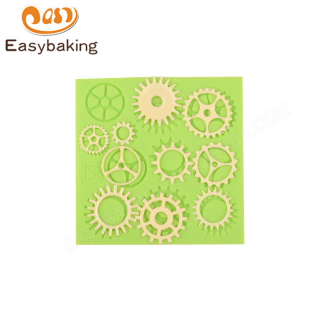 Steampunk Machine Parts, Gears, Wheels Silicone Polymer Clay Mold