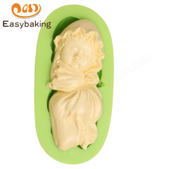 Sleeping Baby Girl Angel Shape Silicone Cake Mold Fondant Decorating