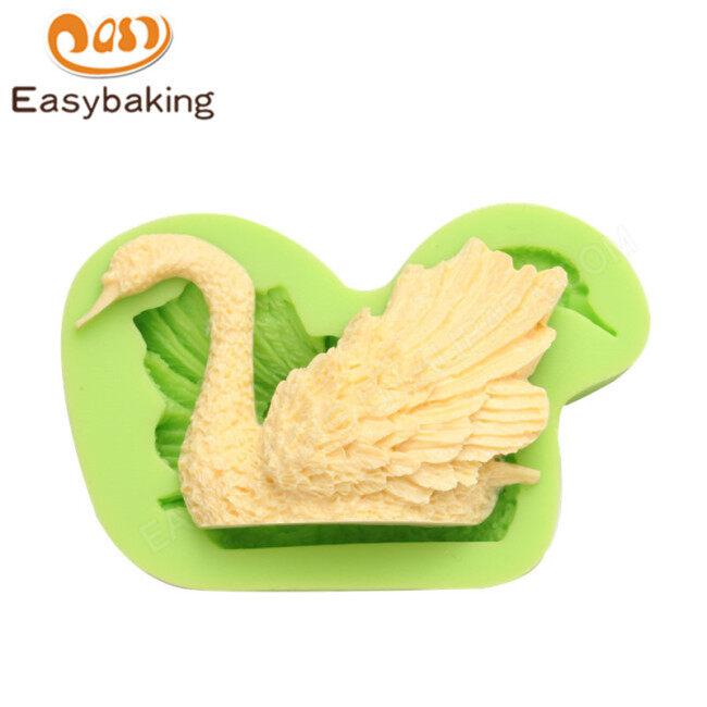 DIY Handmade right swan silicone cake decorating mold