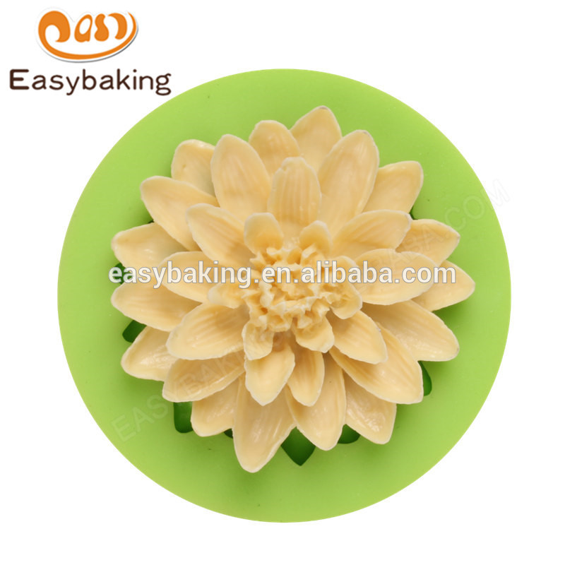 Latest design food grade non stick 59*16mm flower shaped cookies molds