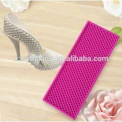 Wedding Cake High-heeled Shoes Decoration Fondant Pearl Mat Silicone Mold