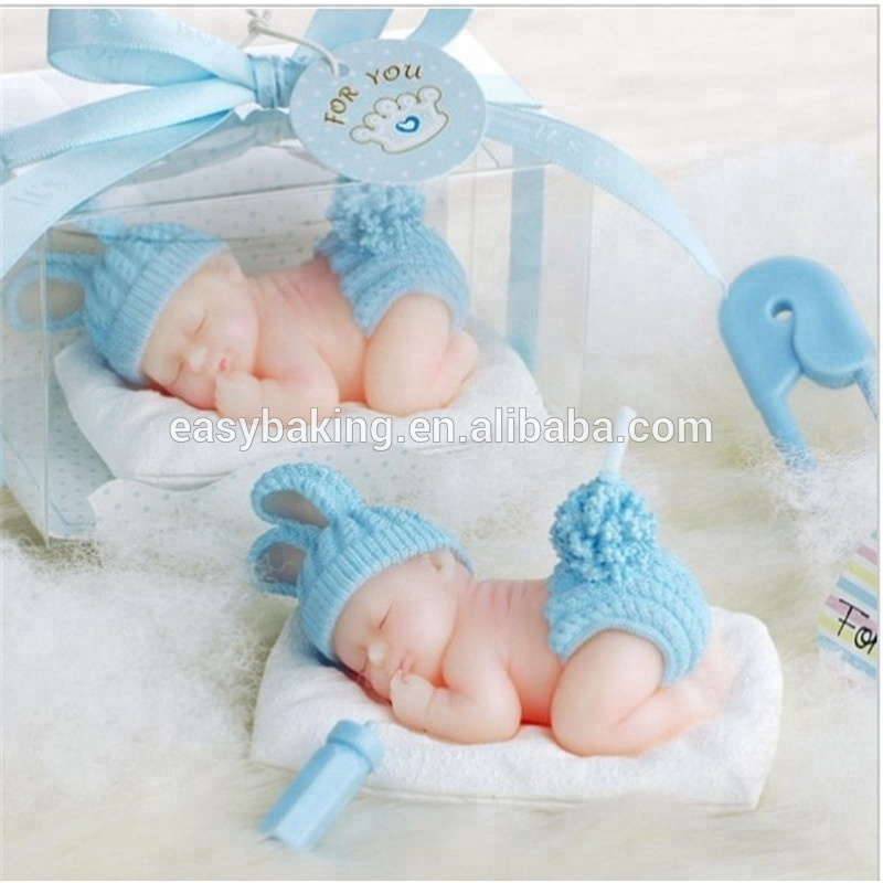 Cake decorating sleep baby with sweater fondant silicone mold
