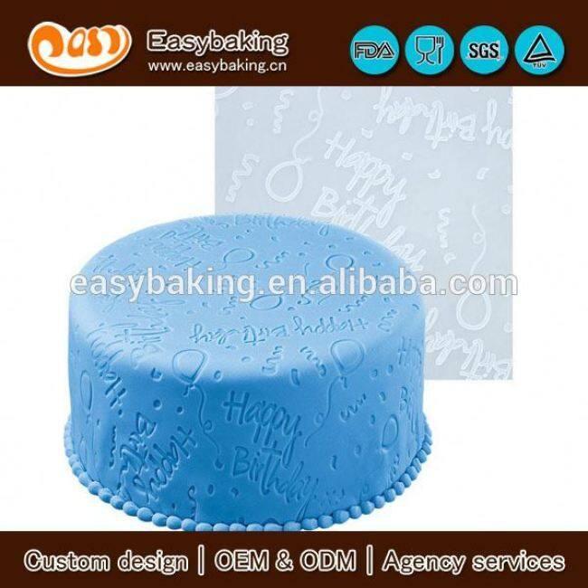 Happy birthday silicone imprint mat