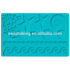 Summers Ocean Starfish Sea Shells Silicone Mould Nature Multi Mat