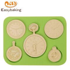 3D clock Silicone Mold Cake Baking Liquid Silicone Mold