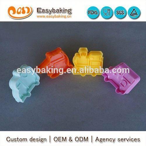 2016 Hot Sale Wholesale Custom Car 3D Plastic Cookie Cutter Set