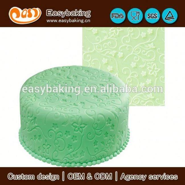 Custom wedding cake decorating fondant silicone impression mat
