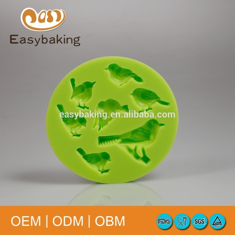Arrival Various Kinds Of Birds Cake Decorate Silicone Candy Mold