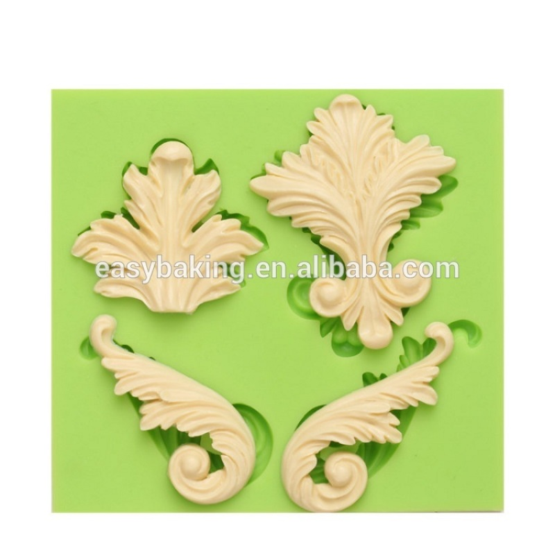 Food grade and eco-friendly baroque artist silicone fondant molds cake baking tools