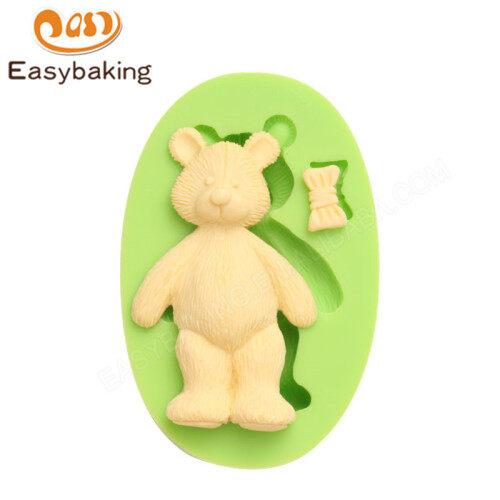 Animal Mould Teddy Bear Bow Fondant Silicone