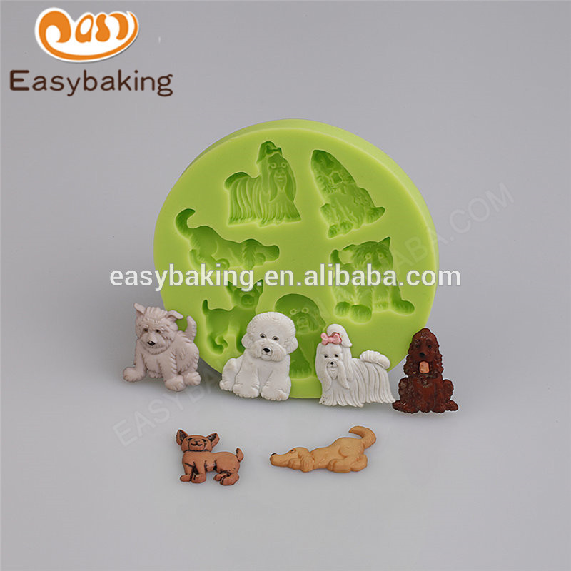 China different shape design animal themed fondant silicone molds