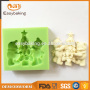 Cute christmas design hot sale 3d chocolate silicone molds