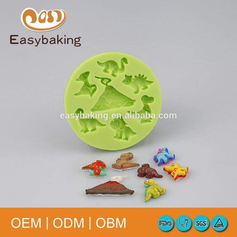 Dinosaur world cup cake decorating cartoon silicone mould