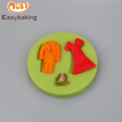 2018 New hat Men Women suit skirt shape silicone cake mould and Chocolate silicone mold fondant soft mold