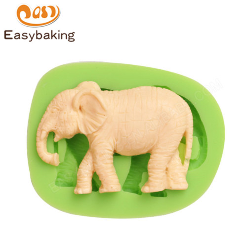 Elephant Silicone Mold for Fondant Gum Paste Chocolate Crafts