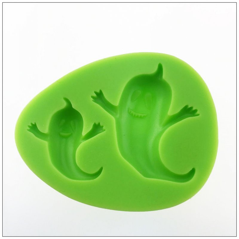 lovely Little Ghost shape soap silicone mold and silicone for gypsum mold Fondant Silicone Cake Decoration