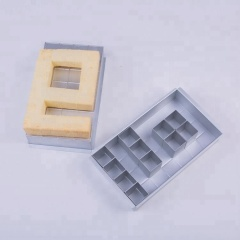 DIY Bakeware Movable Type Number Letter Combination Square Cake Pan Set
