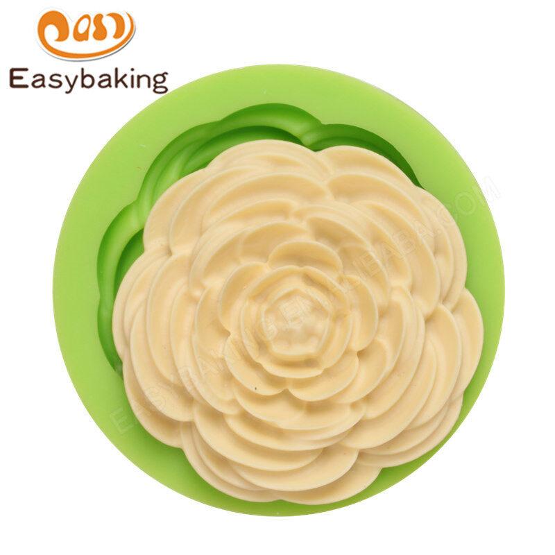 Rose shape fondant mold 3d silicon cake mould