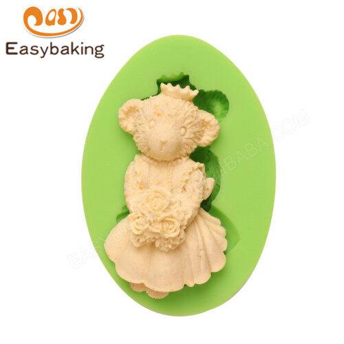 DIY Chocolate Wedding Teddy Bride Bear Silicone Mold