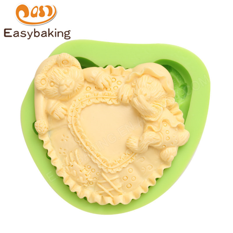 3d fox Silicone Molds For Cake decoration